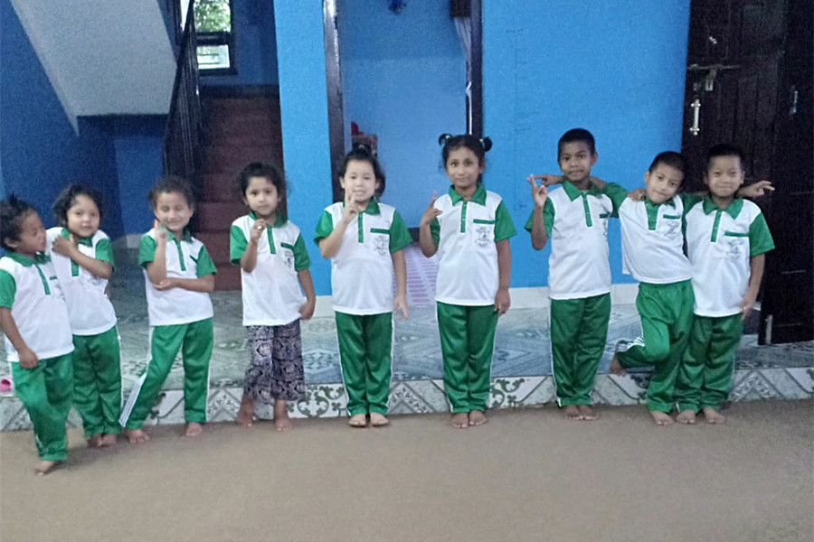 green uniform for kids