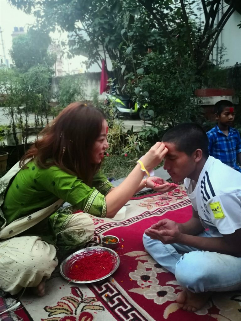 dashain nepal at orphanage house