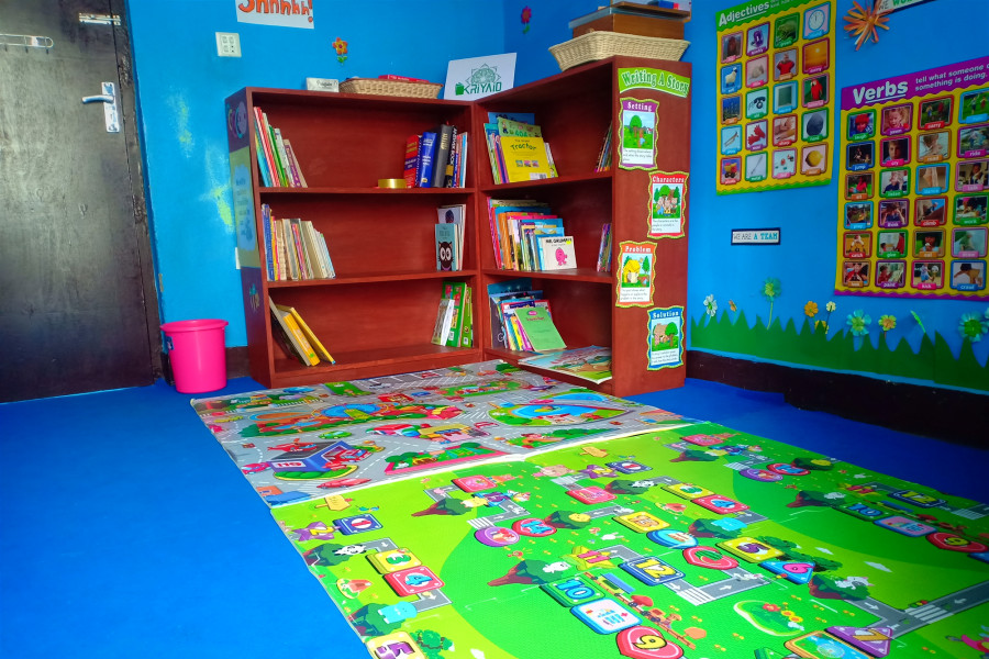 Set up library in orphanage house Nepal