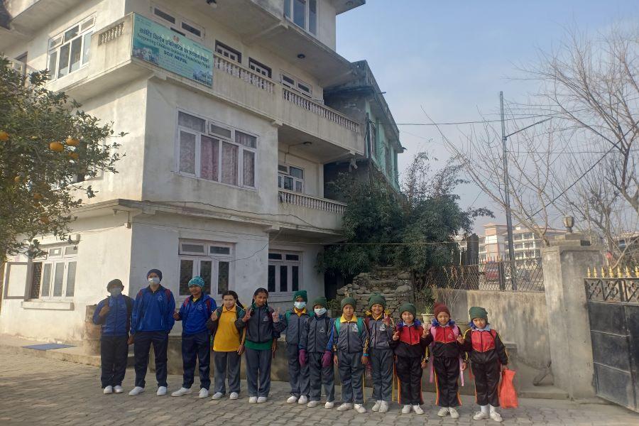 Nepal children ready for school