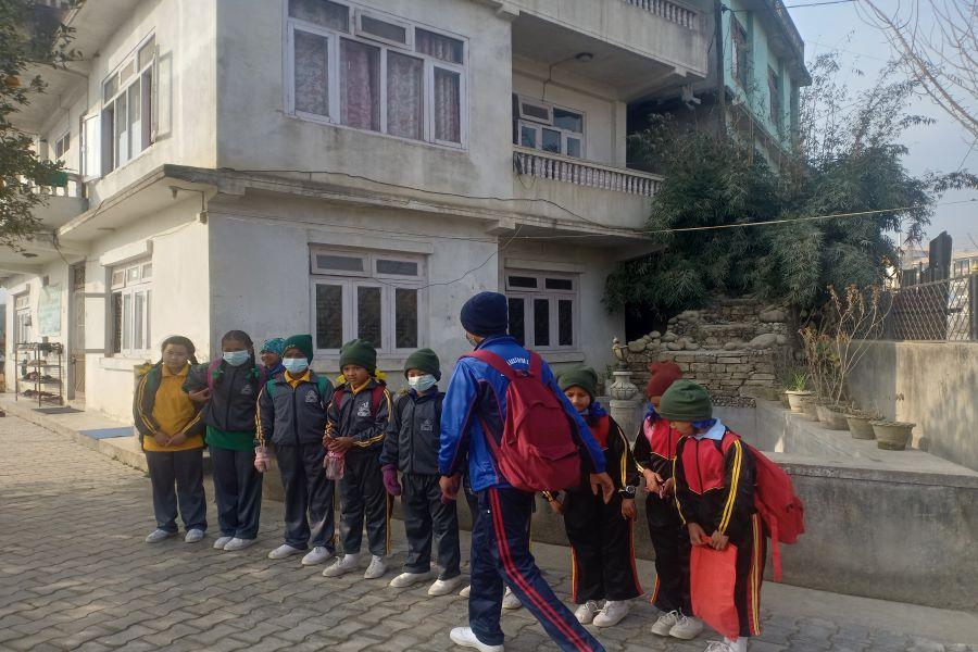 SCIF kids going to school