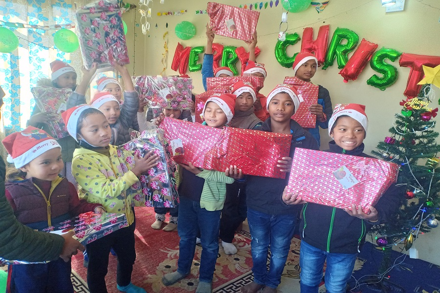Celebrated Christmas in Nepal (year 2020)