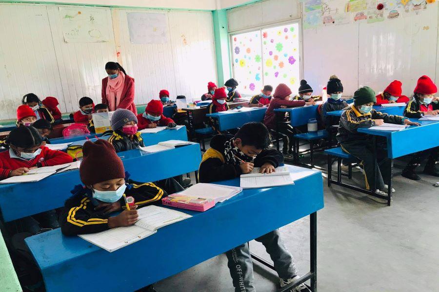 kids during class
